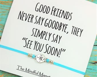 Best Friend Bracelet | Friendship Bracelet | Compass Bracelet | Best Friend Bracelet | Going Away Gift | Gift for Friend | Goodbye Gift
