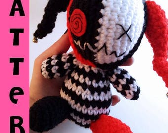 Creepy Cute Plush - Amigurumi Evil Jester - Crochet Pattern - Digital Download PDF