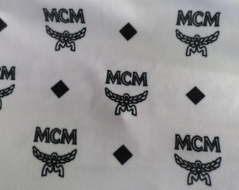 MCM Inspired Designer Print Spandex Fabric By The Yard