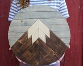 Mountain Wood Art, Mountain Range,Modern Wood Art,Wood Wall Art,Geometric Wood Art,Reclaimed Wood Wall Art,Wedding Gift,Rustic Home Decor