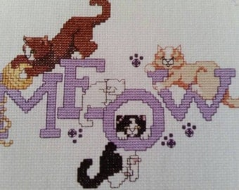 Pattern, CAT PURR-SONALITIES, Counted Cross Stitch Patterns, (15) Adorable Vintage Cat Patterns. Do you have a fur baby like these?!