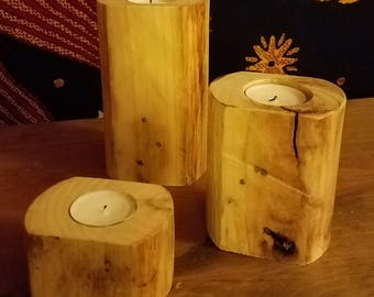 Pallet Wood Tea Light Holder