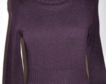 Ann Taylor Dark Purple Sweater Dress Super Soft  Size SP