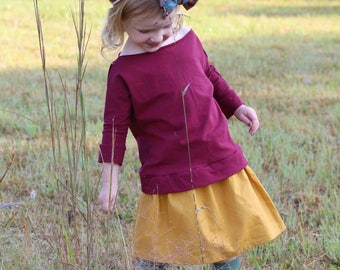 Claire Slouch Top in Merlot
