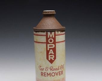 "Porcelain Cone-Top Bottle ""Mopar Tar & Oil Remover"""
