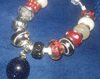 """New Pandora """"like"""" SSP Charm Bracelet with charms spacers beads included"""