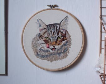 Pet Portrait Embroidery custom gift