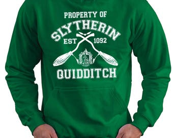 Property Of Slytherin Quidditch Team  Hoodie - Harry Potter Inspired Hooded Jumper