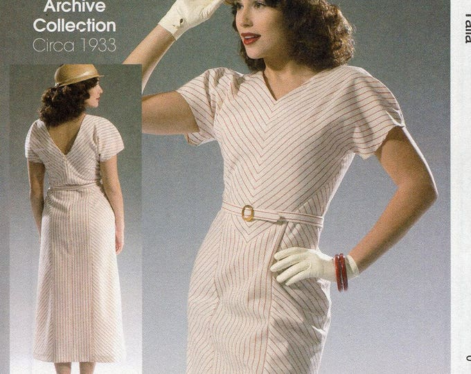 FREE US SHIP McCall's 7153 Sewing Pattern Vintage 1930s's 1933 Plunging Back Dress Size 6/14 14/22 Bust 30 31 32 34 36 38 40 42 44 New