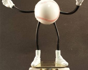Bendy Baseball Trophy - FREE ENGRAVING - T-Ball Trophy - Baseball Award - Participation Award - Kids Trophy -Great for Recreation Team Award