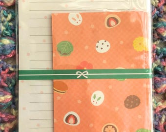 Wagashi Sweets - Cute Japanese Letter Set in Wagashi Sweets