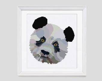 Panda Bear cross stitch pattern, cross stitch pattern, instant download PDF cross stitch pattern, panda bear counted cross stitch pattern
