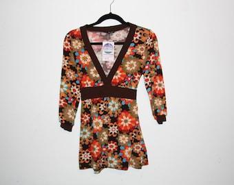 RETRO 60's Go-Go Flower Dress