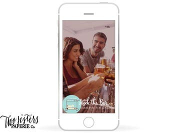 STOCK THE BAR Snapchat Filter - Couples Shower Snapchat Geofilter - Housewarming Party Snapchat - Stock the Bar Party - Snapchat Geofilter
