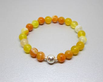 Positive energy, new beginnings, new start, balance, grounding, bracelet for soothing, calming and balancing your energy, yellow agate
