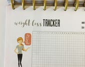 Weight Loss Tracker Happy Planner MINI Insert, Print at Home, PDF Economical, Printable, Monthly Tracker, Fitness Tracker, MAMBI