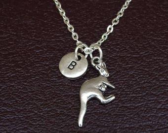 Kangaroo Necklace, Kangaroo Charm, Kangaroo Pendant, Kangaroo Jewelry, Kangaroo Gift, Aussie Necklace, Aussie Jewelry, Australia Necklace