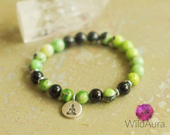 Prosperity - Good Fortune - Luck - Harmony - Gemstone Bracelet - Meditation - Zen - Healing - Chakra - Reiki - Yoga - Boho - Jewelry