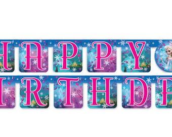 Frozen Birthday Party Banner