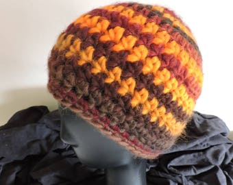 Autumn Hat chunky knit 100% wool