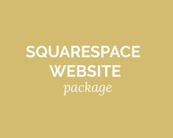 SQUARESPACE WEBSITE DESIGN - Custom Blog, Shop Design, Custom Website Template, Photography Website, Ecommerce Website,