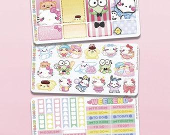 HK and Friends Planner Kit || Planner Stickers, Cute Stickers for Erin Condren (ECLP), Filofax, Kikki K, Etc. || PKS07