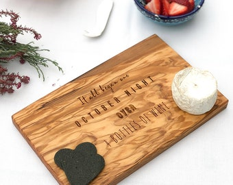 Personalized 'Where It All Began' Cheese Cutting Board Anniversary Gift