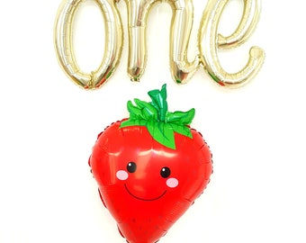 One berry sweet girl balloon. Script balloons. berry sweet. strawberry balloon. first birthday party. one berry sweet. berry sweet balloon