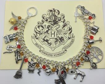 The Boy Who Lived - Harry Potter inspired fully loaded charm bracelet.