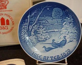 Bing Grondahl Christmas Plate 1970/Jule Aften 1970