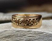 Antique Victorian 18ct Gold MIZPAH Ring