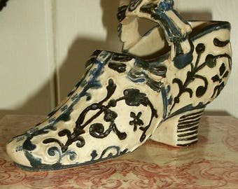 Antique German Stoneware 18th C Style Shoe