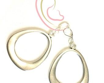 Silver Hoop  Earrings, Unique Hoop Earrings, Stunning Silver Earrings, On Trend Earring Gift, Great Thank You Gift, Free Local Shipping