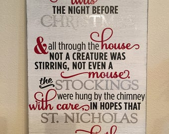 Twas The Night Before Christmas Large