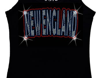 New England Bling Tank Top sequins Shirt No Rhinestones