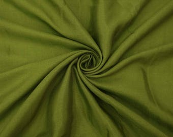 "Olive Green Shantung Fabric, Silk Dupioni, Wedding Fabric, Decor Fabric, 42"" Inch Wide Fabric By The Yard ZSH1F"