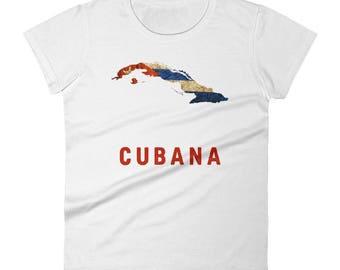 "The ""Cubana"" Cuban Flag T-Shirt (women)"