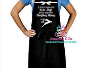 Set of 10 Aprons - Just Want To Bake And Watch Christmas Movies - Personalized Apron - Christmas Apron - Holiday Apron - Custom Apron