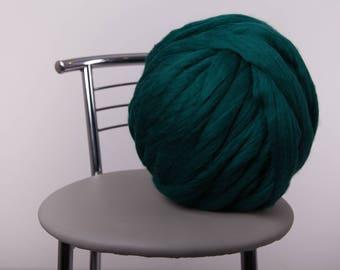 1 lbs/0.5 kg Super bulky yarn. Merino wool roving. Big yarn. Merino wool. Wool yarn. Giant yarn. Chunky yarn. 23 micron. Gift. Wool roving