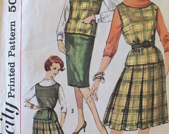 Vintage Sewing Pattern - 1960s Top and Skirts Pattern - Simplicity 3634