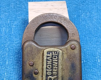 Antique P&R Signal Service Padlock - Philadelphia and Reading RR