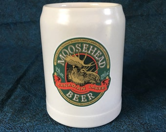 Vintage Ceramarte Moosehead Beer Stein, Father's Day Tankard