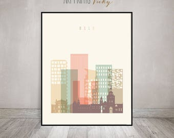 Oslo print, Poster, Wall art, Norway cityscape, Oslo skyline, City poster, Typography art, Gift, Home Decor, Fine art prints, ArtPrintsVicky
