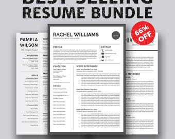 resume template cover letter template word instant download professional creative resume design. Resume Example. Resume CV Cover Letter