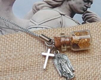 Mini Keychain Gold Myrrh Frankincense 2cm bottle