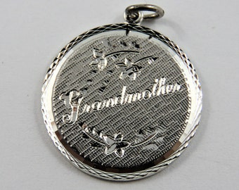 Grandmother Sterling Silver Charm of Pendant.