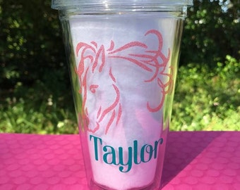 Personalized Horse Tumbler, Horse Tumbler, Personalized Tumbler, Horse Lover Gift