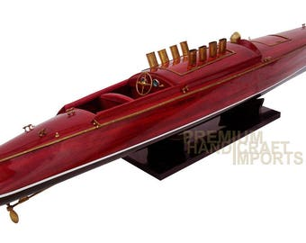 "Handmade Dixie II Racing Speed Boat Model 39"""