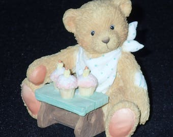 Enesco Cherished Teddies 1992 Age 3 Figurine #911313 Mint in Box