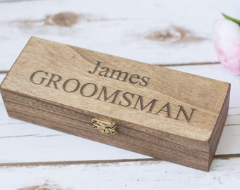 Groomsmen Gift Box Cigar box Personalized Cigar Boxes Bestman Gift Box  Will you be my bestman Proposal Groomsmen Wooden Box Wedding Favor